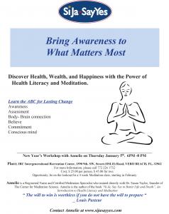Health Literacy and Meditation Event @ iG Center | Vero Beach | Florida | United States