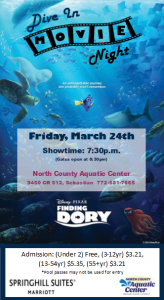 Dive In Movie Night at the Pool @ North County Aquatic Center | Sebastian | Florida | United States