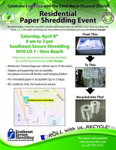 Residential Paper Shredding Event @ Southeast Secure Shredding | Vero Beach | Florida | United States