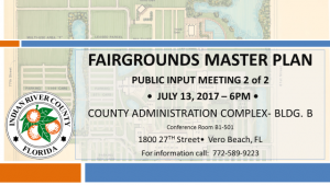 Fairgrounds Master Plan Public Input Meeting (part 2 of 2) @ County Administration Complex | Vero Beach | Florida | United States