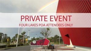 Four Lakes POA Meeting - Private Event @ iG Center | Vero Beach | Florida | United States