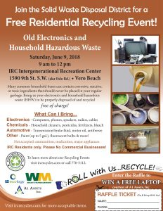 Electronics and Household Hazardous Waste Recycling Event @ iG Center | Vero Beach | Florida | United States