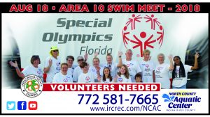Special Olympics Area Games @ North County Aquatic Center | Sebastian | Florida | United States