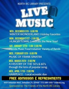 Hungrytown Concert: Celebrate the New Year! @ North County Library | Sebastian | Florida | United States