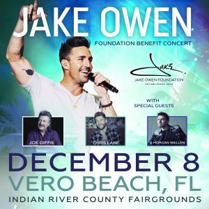12th Annual Jake Owen Foundation Benefit Concert @ IRC Fairgrounds | Vero Beach | Florida | United States