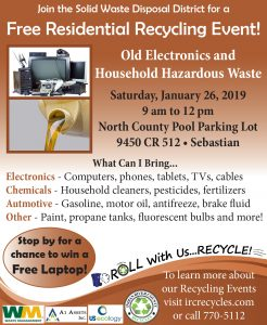 Free Residential Recycling Event! @ North County Aquatic Center | Sebastian | Florida | United States