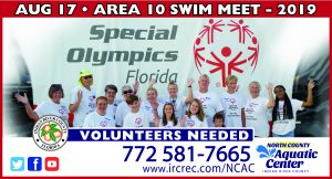 Special Olympics Area Games - VOLUNTEERS Needed @ North County Aquatic Center NCAC | Sebastian | Florida | United States