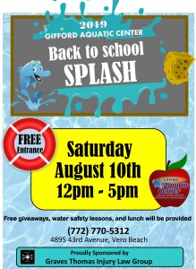 Back to School Splash! @ Gifford Aquatic Center GAC | Vero Beach | Florida | United States