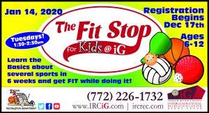 Fit Stop For Kids! (6) week Program Begins @ iG Center