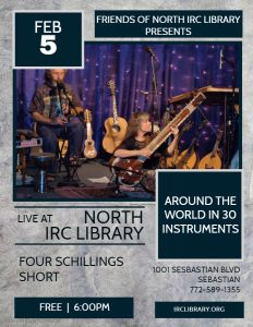 LIVE MUSIC - Around the World in 30 Instruments @ North County Library