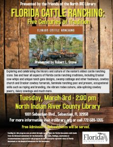 Author Talk: FL Cattle Ranching @ North County Library