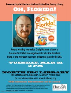 AUTHOR TALK: Oh, Florida! @ North County Library