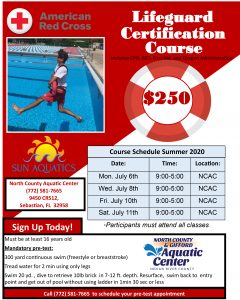 NCAC Lifeguard Certification Course Begins @ North County Aquatic Center