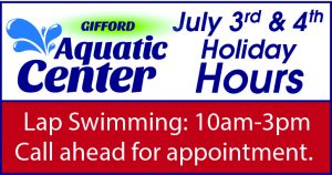 Gifford Aquatic Center Holiday Hours @ Gifford Aquatic Center