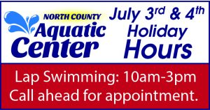 North County Aquatic Center Holiday Hours @ North County Aquatic Center