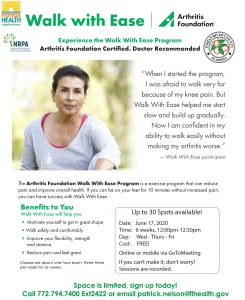 """""""Walk With Ease"""" Begins Today!"""