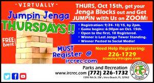 """""""Virtually"""" Jumpin Jenga Thursdays!"""