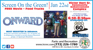 "Screen On The Green Featuring ""Onward"" @ Victor Hart Sr. Community Enhancement Complex"