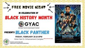 Free Movie Night at the GYAC featuring Black Panther @ GYAC