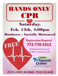 Hands ONLY CPR! - FREE! @ Gifford Aquatic Center
