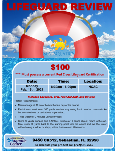 Lifeguard Review Course @ North County Aquatic Center