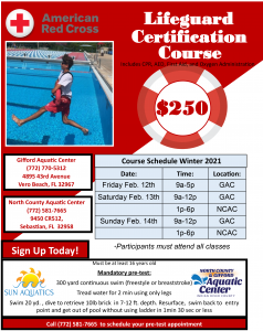 Lifeguard Certification Course @ BOTH Gifford and North County Aquatic Centers