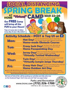 "Spring Break at Home ""Virtual"" Camp! @ Online!"