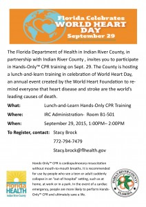 9.29.15-IRC-Hands only CPR Lunch & Learn