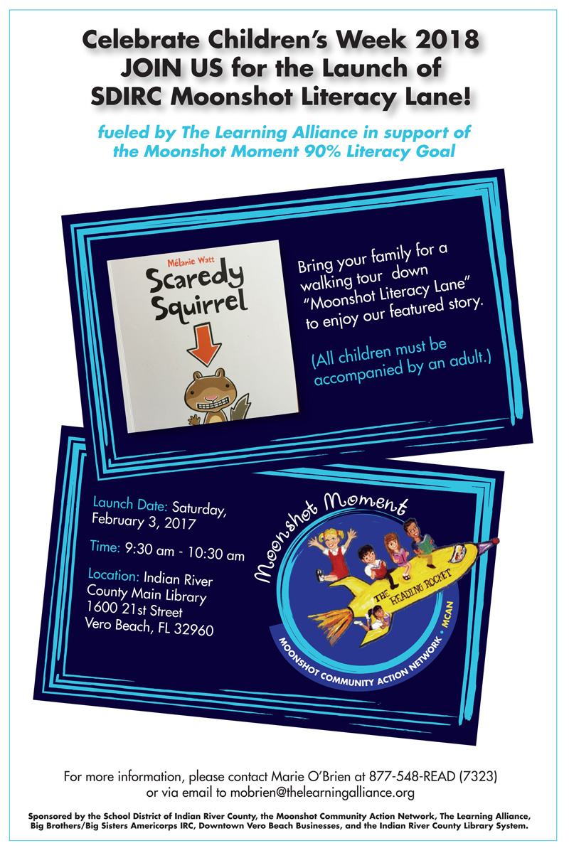 Take Your Child to the Library Day with Moonshot Literacy Lane