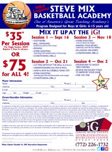 Steve Mix Basketball Academy Session 4 Of Ig Center Vero Beach Florida
