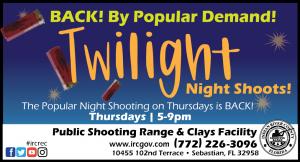 Twilight Night Shoots! @ IRC Shooting Range
