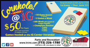 Cornhole League at the iG! @ iG Center