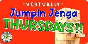 """Virtually"" Jumpin Jenga Thursday! @ Online!"