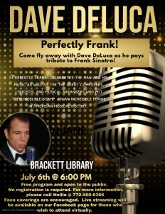 Perfectly Frank with Dave DeLuca @ Brackett Library