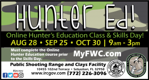 """Hunter Education Classes! Brought to you by """"My FWC"""" @ IRC Shooting Range"""