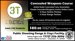 Concealed Weapon Course by 3T Tactical @ IRC Shooting Range