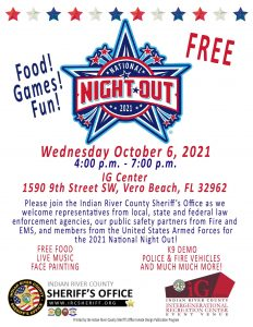 National Night Out! brought to you by: IRCSO @ iG Center