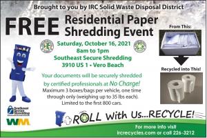 Free Residential Paper Shredding Event! @ Southeast Secure Shredding